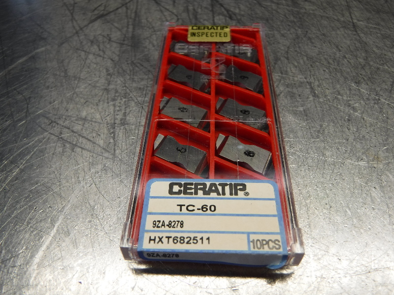 Kyocera Ceratip Ceramic Inserts QTY10 9ZA-8278 TC60 (LOC1003D)
