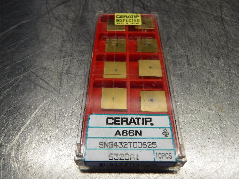 Kyocera Ceratip Ceramic Inserts QTY10 SNG432T00625 A66N (LOC1003D)