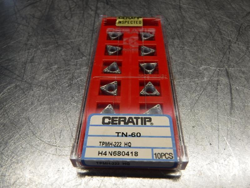 Kyocera Ceratip Ceramic Inserts QTY10 TPMH-222 HQ TN-60 (LOC1003D)