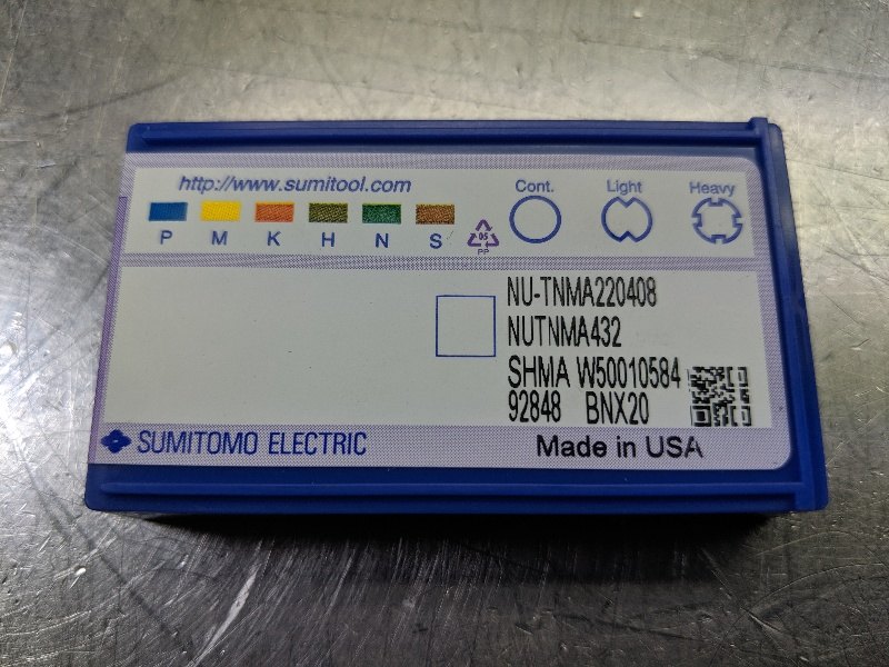 Sumitomo CBN Carbide Inserts QTY:1 TNMA 220408 / TNMA 432 BNX20 (LOC2956B)