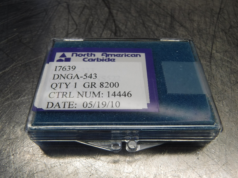 North America CBN Carbide Inserts QTY1 DNGA-543 8200 (LOC1015B)