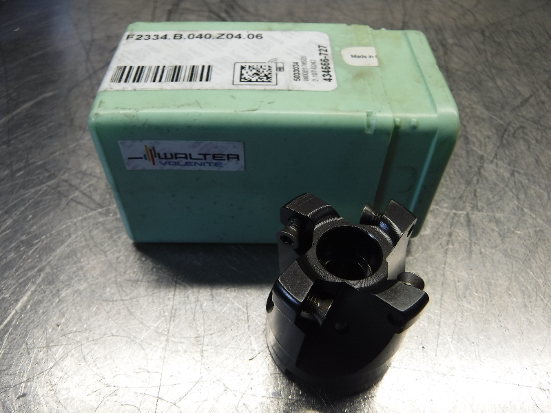 """Walter 40mm Indexable Facemill 5/8"""" Arbor F2334.B.040.Z04.06 (LOC1038C)"""