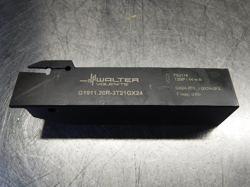 "Walter 1.25"" Indexable Lathe Tool Holder G1011.20R-3T21GX24 (LOC1071B)"