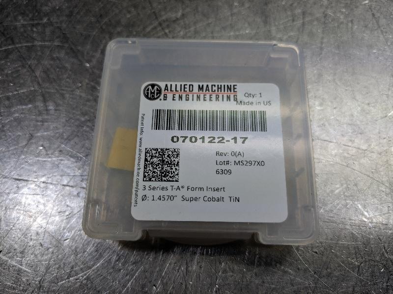"AMEC Series #3 1.457"" Cobalt insert 070122-17 (LOC2911A)"