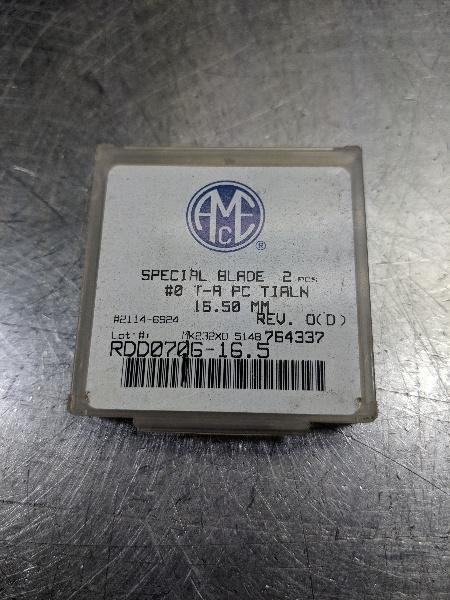AMEC Series #0 TA 16.5mm Spade Drill Inserts RDD0706 165 (LOC2705B)