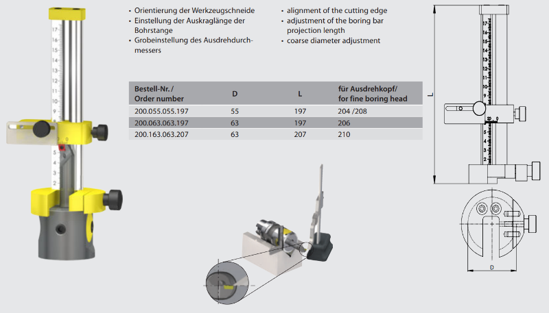 Setting Jig for multi head Ø 63 200.163.063.207