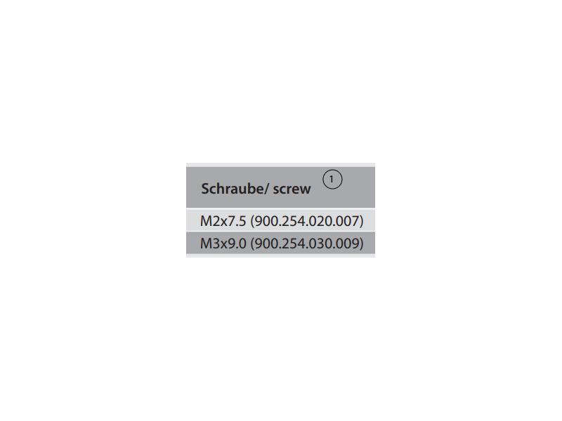 Torx-Screw M2.0 x 7.5 (T7) 900.254.020.007