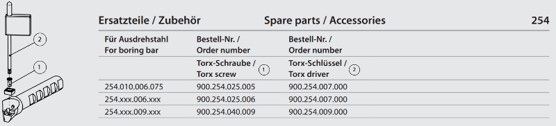 Torx-Screw M2.5 x 6 900.254.025.006