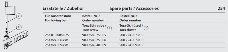 Torx screw M4x9 900.254.040.009
