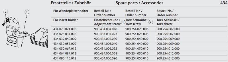 Synchronous adjustment screw M4x0.5 x 30 900.434.004.030