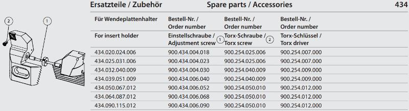 Synchronous adjustment screw M4x0.5 x 23 900.434.004.023