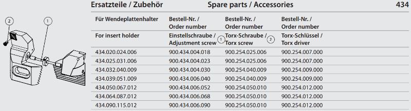 Synchronous adjustment screw M6 x 40 900.434.006.040
