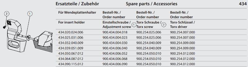 Synchronous adjustment screw M6 x 52 900.434.006.052