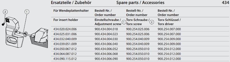Synchronous adjustment screw M6 x 68 900.434.006.068