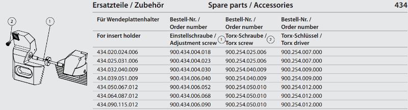 Synchronous adjustment screw M6 x 90 900.434.006.090