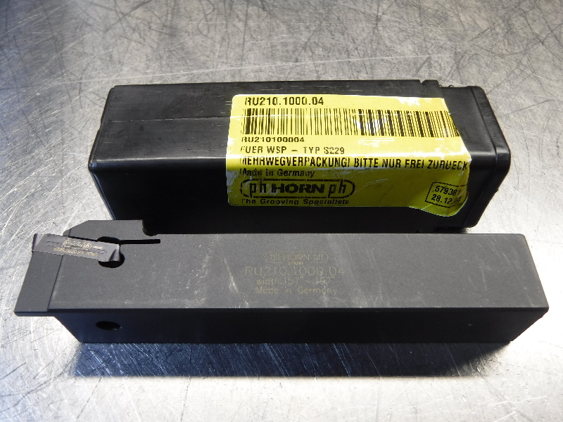 """PH Horn 1"""" Indexable Grooving Tool Holder RU210.1000.04 (LOC1192A)"""