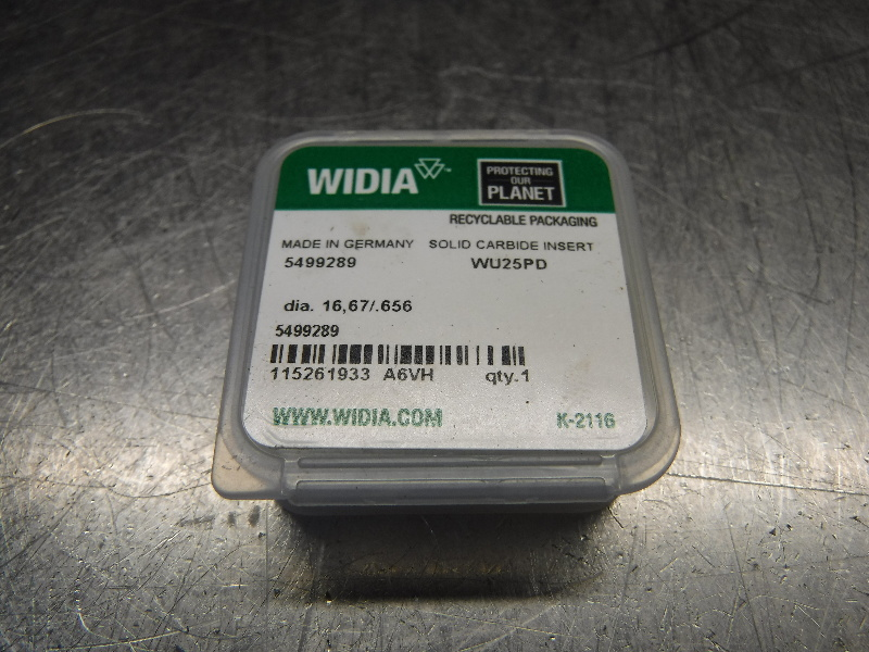 "Widia 0.656"" Replaceable Carbide Tip Insert QTY1 5499289 WU25PD (LOC1099B)"