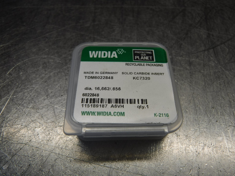 "Widia 0.656"" Replaceable Carbide Tip Insert QTY1 TDM6022848 KC7320 (LOC1099B)"