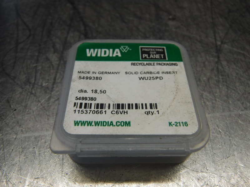 Widia 18.50mm Replaceable Carbide Tip Insert QTY1 5499380 WU25PD (LOC1099B)