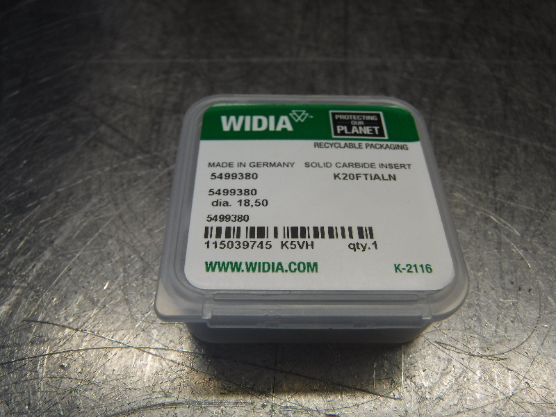 Widia 18.50mm Replaceable Carbide Tip Insert QTY1 5499380 K20FTIALN (LOC1099B)