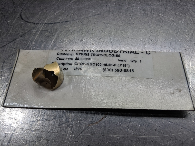 Seco Carbide Drill Insert SD100-18.26-P 22937 (LOC2888D)