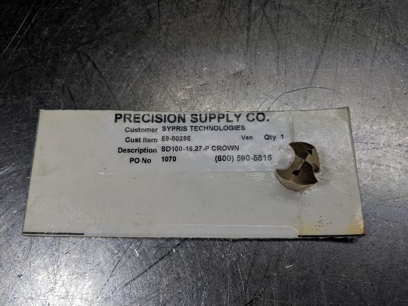 Seco Carbide Drill Insert SD100-16.27-P 22927 (LOC2888D)