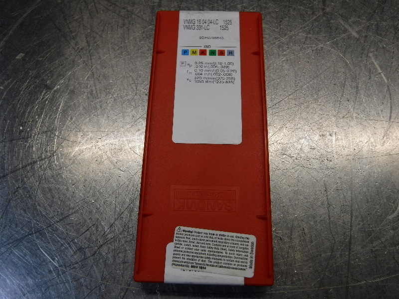 Sandvik Cermet Inserts QTY10 VNMG 16 04 04-LC / VNMG 331-LC 1525 (LOC1253C)