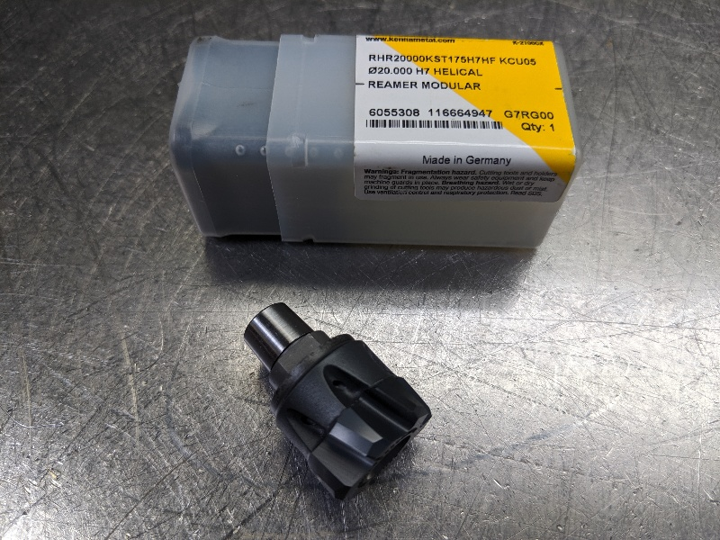 Kennametal 20mm Modular Reamer Head RHR20000KST175H7HF KCU05 (LOC2849A)