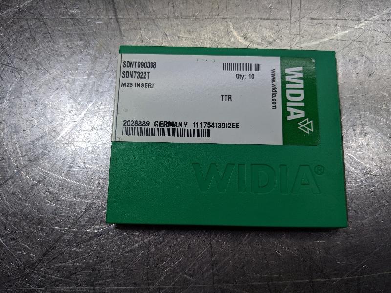 Widia Carbide Insert QTY:10 SDNT090308 / SDNT322T TTR (LOC2767A)