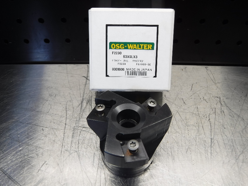 Walter 63mm Indexable Facemill 22mm Arbor F2230.B.63.Z03.14 (LOC1254B)