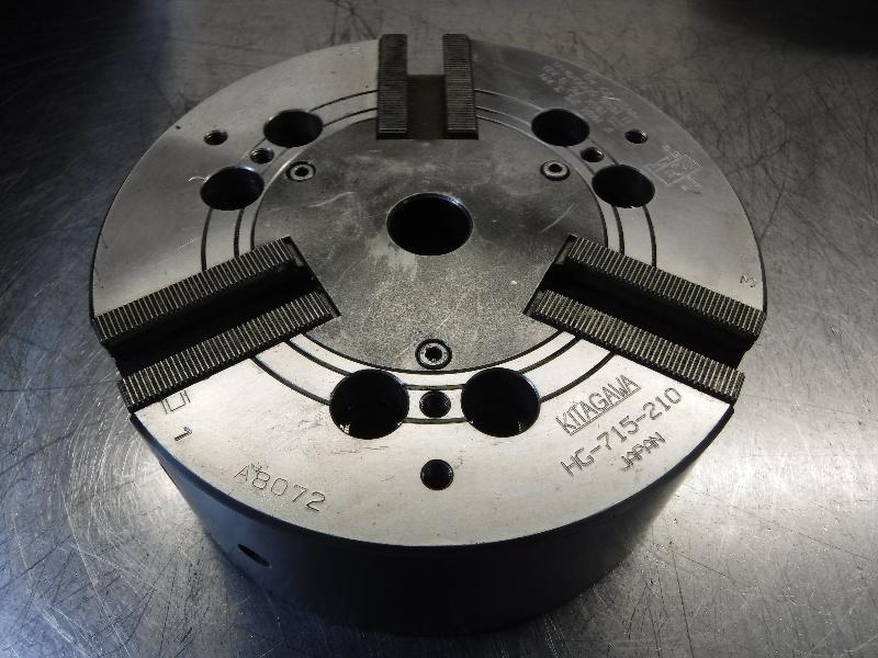 """Kitagawa 8"""" 3 Jaw Hydraulic Power Lathe Chuck HG-715-210 (LOC1258A)"""