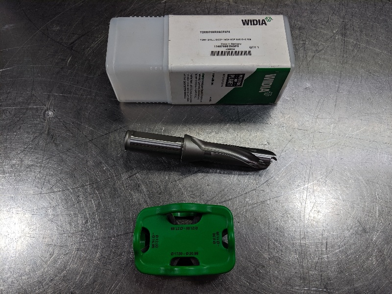 "Widia .709"" Indexable Drill 3/4"" Shank TDM0709R3SCF075 (LOC2824B)"