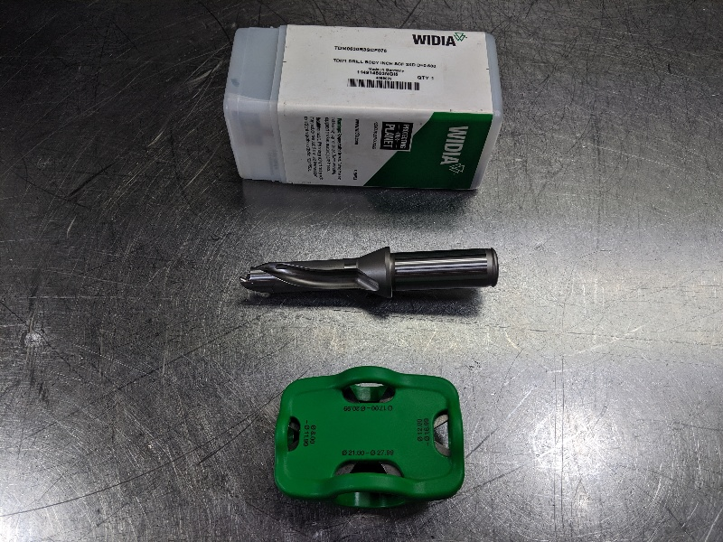"Widia .63"" Indexable Drill 3/4"" Shank TDM0630R3SCF075 (LOC2824B)"
