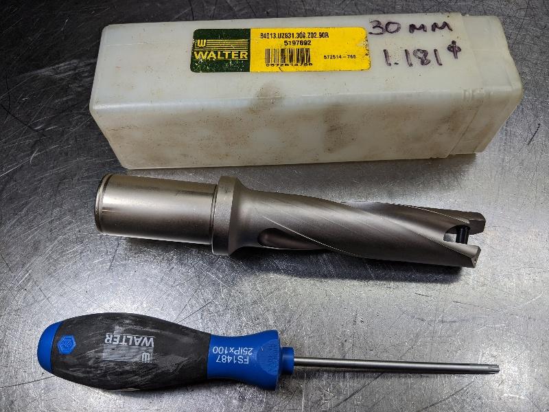 "Walter 30mm Indexable Drill 1.25"" Shank B4013.UZB31.30,0.Z02.90R (LOC2695A)"