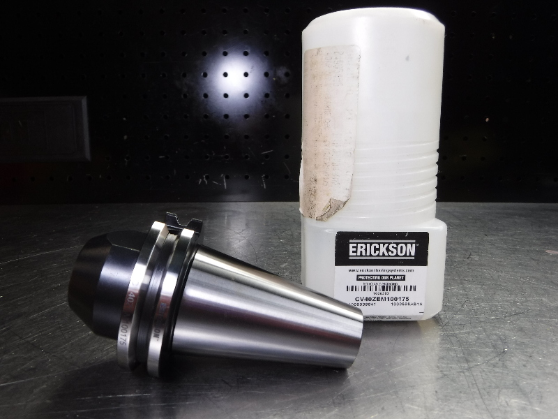 "Erickson CAT40 1"" Endmill Holder 1.75"" Projection CV40ZEM100175 (LOC1439A)"