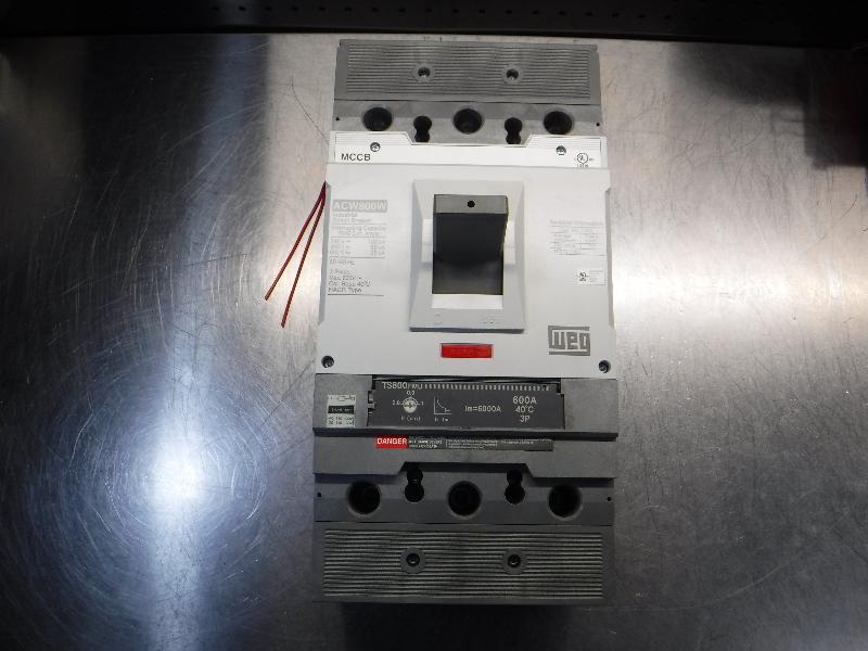 WEG Circuit Breaker 50/60 Hz 3 Poles 600V Max w/ Breaker Guard ACW800W (LOC1664)