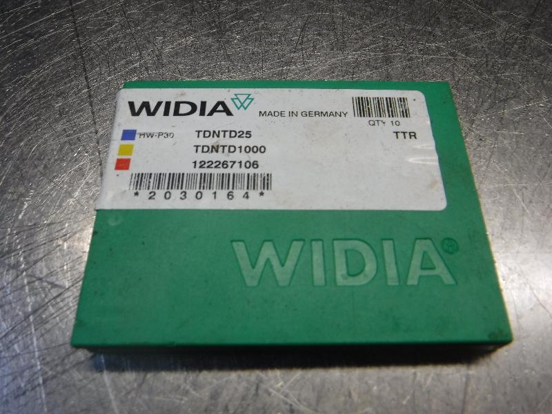 Widia Carbide Inserts QTY10 TDNTD25 / TDNTD1000 TTR (LOC1673A)