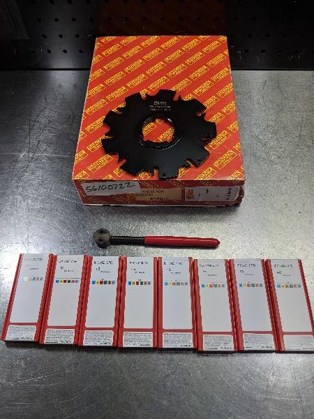 "Sandvik 5.5"" Slot Milling Cutter 1.5"" Arbor 000 240218 N308 w/inserts (LOC2668A)"