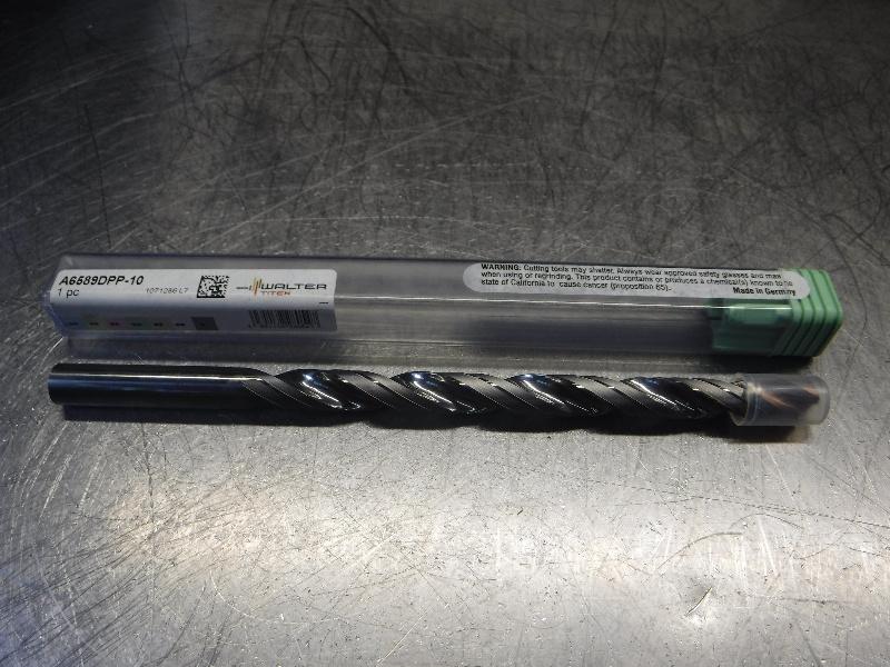 Walter Titex 10mm 2 Flute Carbide Drill Coolant Through A6589DPP-10 (LOC1506)