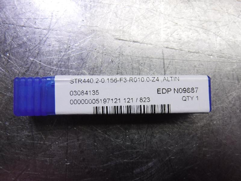 """Niagara 5/32"""" Solid Carbide Endmill STR440.2-0.156-F3-R010.0Z4 ALTIN (LOC1808A)"""