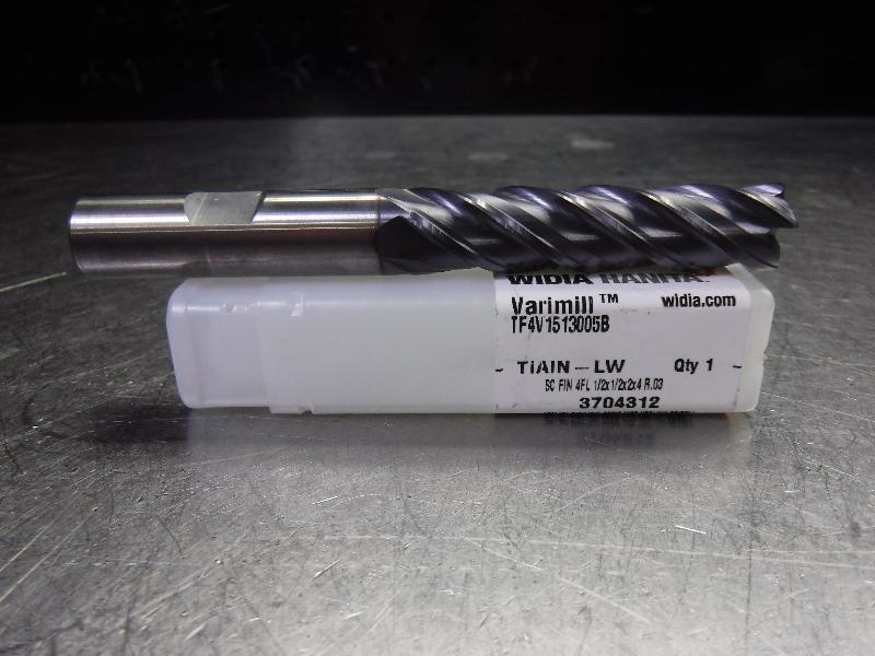 "WIDIA VariMill 1/2"" Solid Carbide Endmill Long #TF4V1513005B TIALN-LW (LOC1808A)"