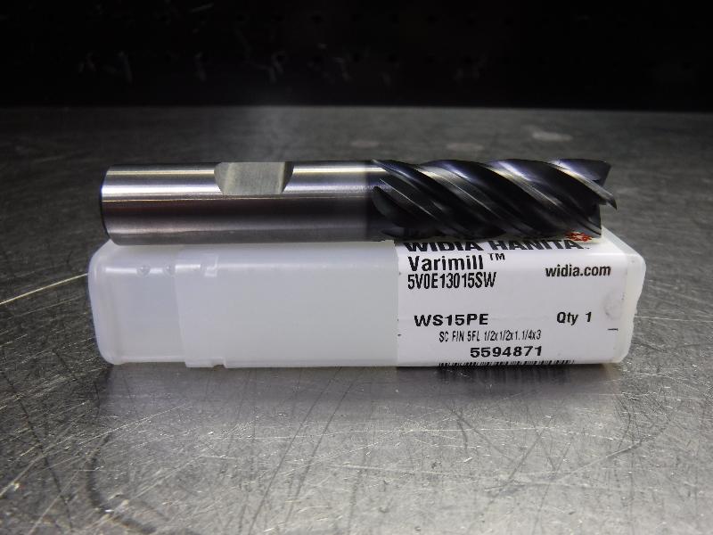 "WIDIA VariMill 1/2"" Solid Carbide Endmill 5V0E13015SW WS15PE (LOC1808A)"