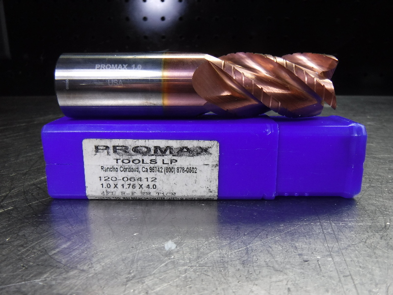 "ProMax 1"" Solid Carbide Endmill 1"" Shank 120-06412 TiCN (LOC1752)"