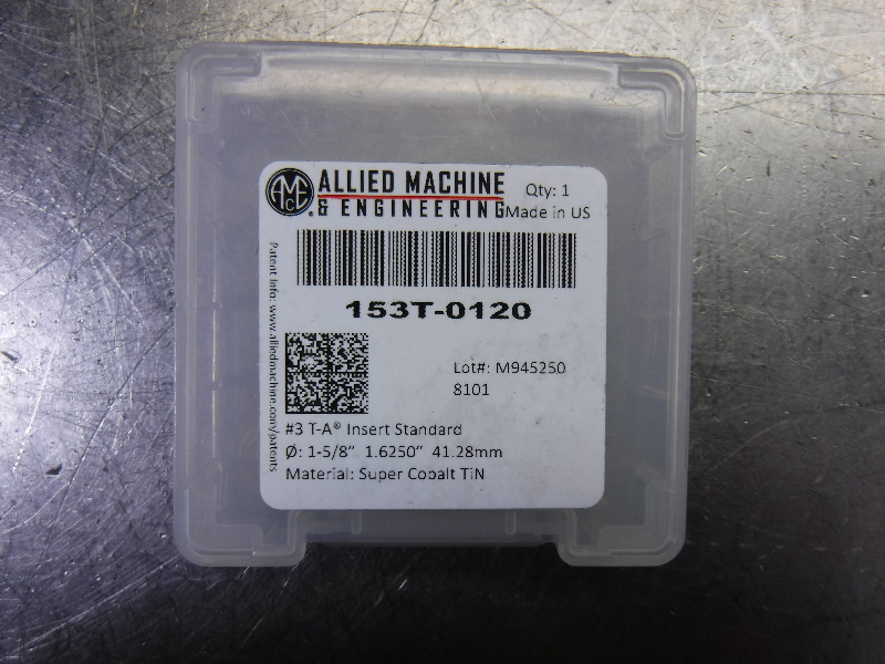 """AMEC #3 T-A 1.625"""" Spade Drill Insert QTY1 153T-0120 (LOC1903A)"""