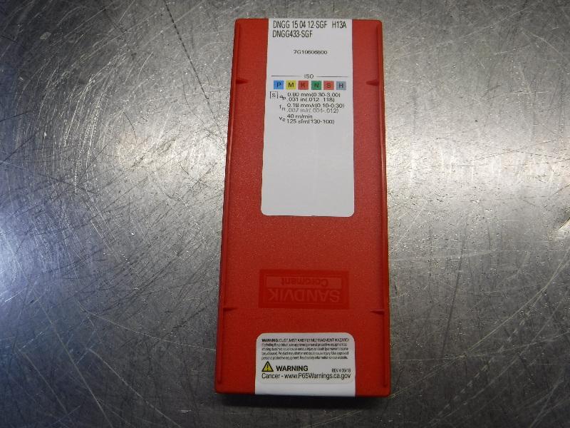 Sandvik Carbide Inserts QTY10 DNGG 15 04 12-SGF / DNGG433-SGF H13A (LOC1530)