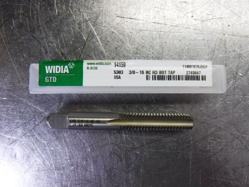 "WIDIA GTD 3/8""-16 Straight Flute Bottoming Taps QTY4 4AHT6 (LOC530)"