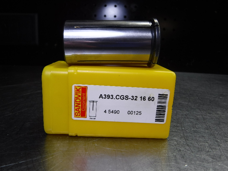 "Sandvik 32mm Hydraulic Collet 1/2"" Capacity A393.CGS-32 16 60 (LOC1372A)"