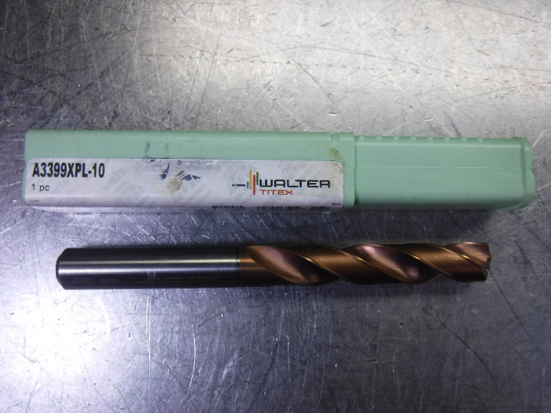 Walter Titex 10mm Carbide Drill A3399XPL-10 (LOC1373B)