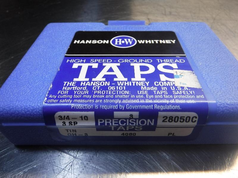 HANSON & WHITNEY 3/4-10 3SP GH3 Taps QTY3 (LOC1068C)