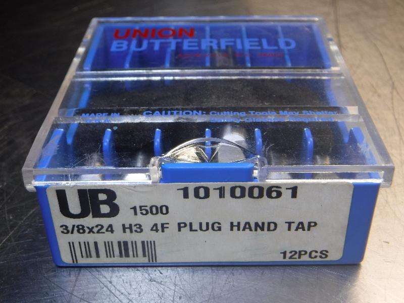 """Union Butterfield 3/8""""x24 H3 4F PLUG Hand TAP HSS QTY7 (LOC1070A)"""